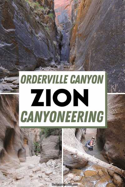 orderville canyon views with a girl wading through water