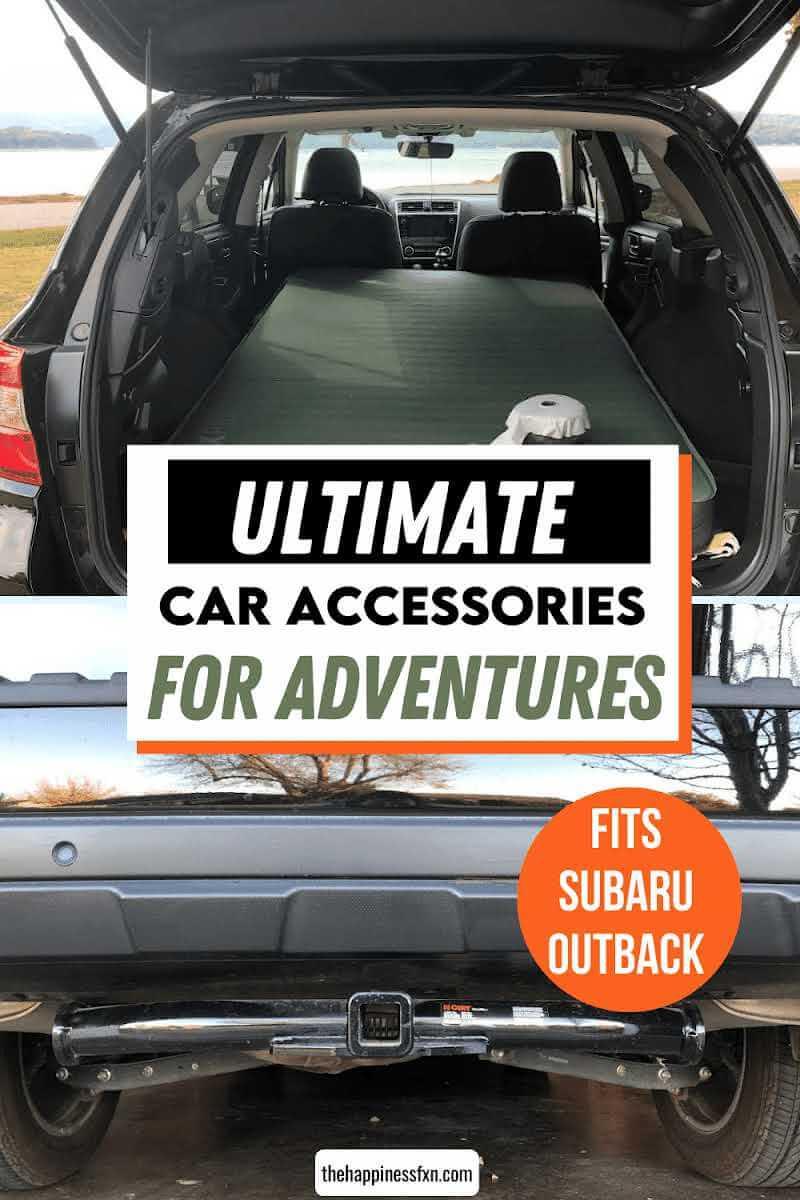 car accessories in subaru outback include best car camping mattress and curt hitch