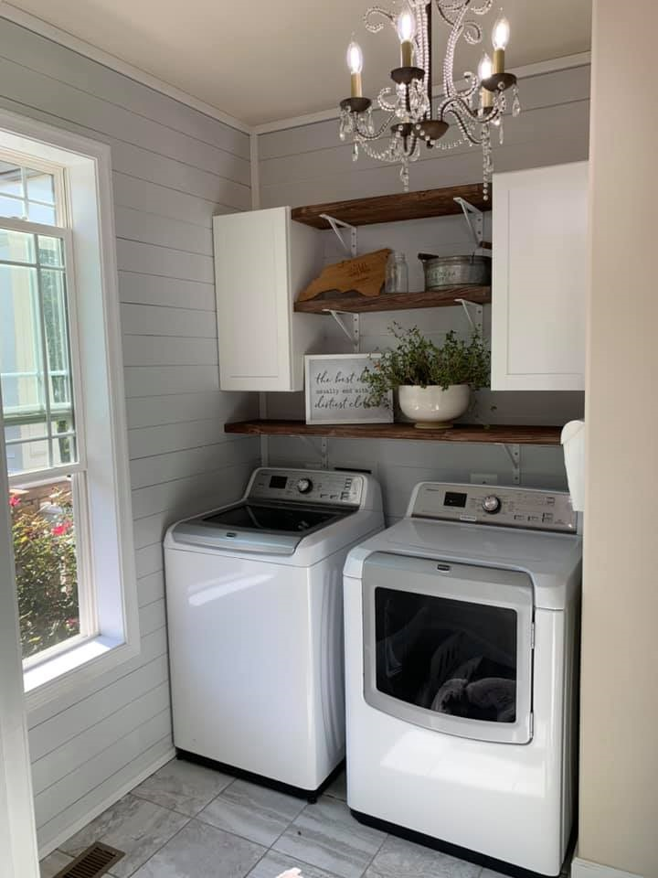 farmhouse laundry room makeover before