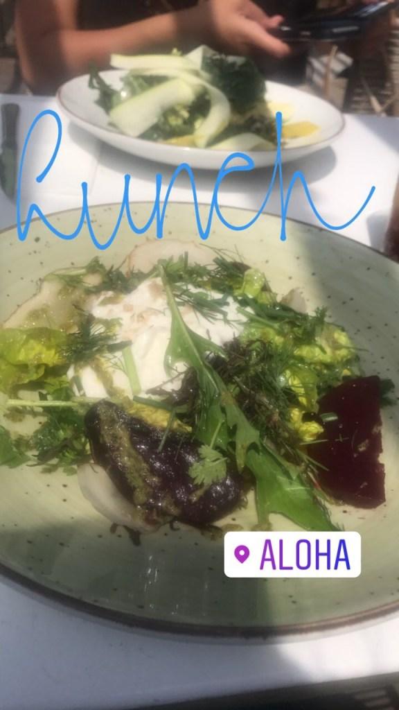 Lunch bij Aloha