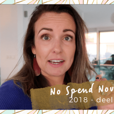 No Spend November 2018 deel II cover
