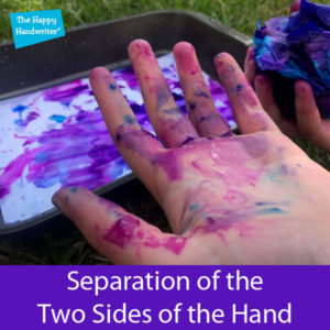 Seperation of the two sides of the hands