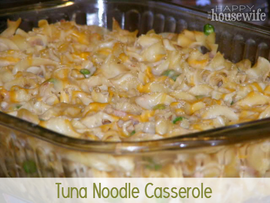 I love meals that contain all the food groups—it makes dinner so easy! This tuna noodle casserole is one of those meals, and it only costs a little over $5.