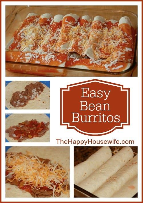 Easy Bean Burritos at The Happy Housewife