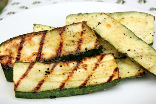 Grilled Zucchini at The Happy Housewife