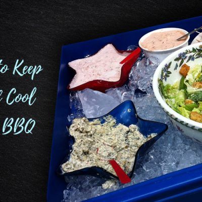 This simple tip will help you keep your food cool at BBQ's and lessen the risk of people getting food poisoning at your party.