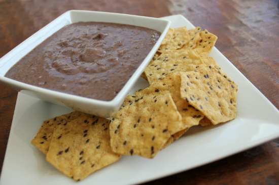 Black Bean Dip at The Happy Housewife