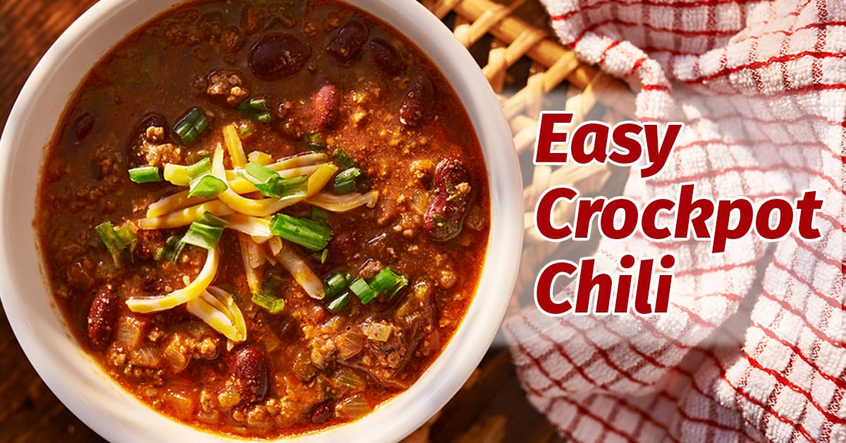 Easy Crockpot Chili The Happy Housewife Cooking
