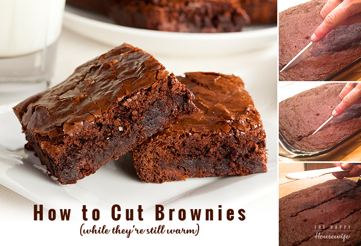 How to cut warm brownies so they don't fall apart