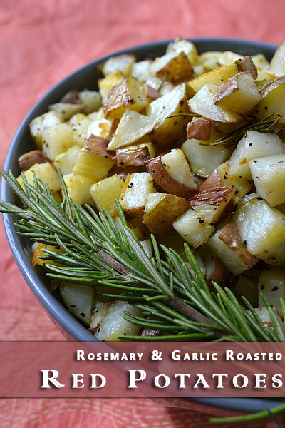 Rosemary and Garlic Roasted Red Potatoes at The Happy Housewife