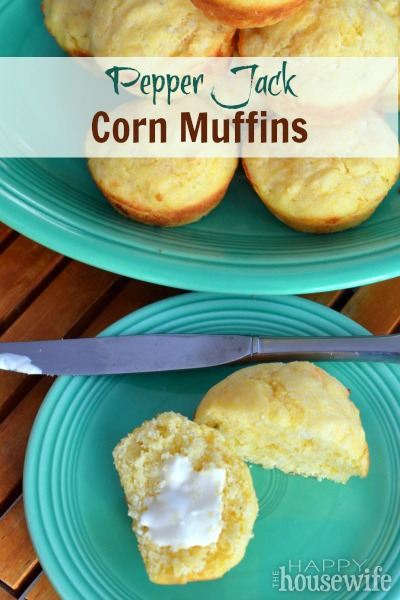 Pepper Jack Corn Muffins | The Happy Housewife