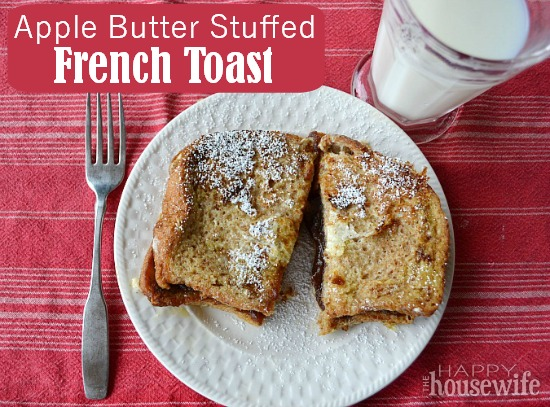 Apple Butter Stuffed French Toast at The Happy Housewife