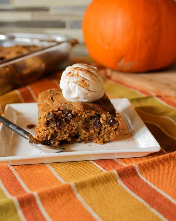 Pumpkin Bars - Gluten Free & Vegan at The Happy Housewife