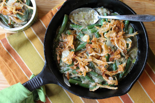 Gluten-Free Green Bean Casserole - Also dairy free with paleo options. | The Happy Housewife
