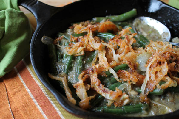 Gluten-Free Green Bean Casserole - Also dairy free with paleo options.