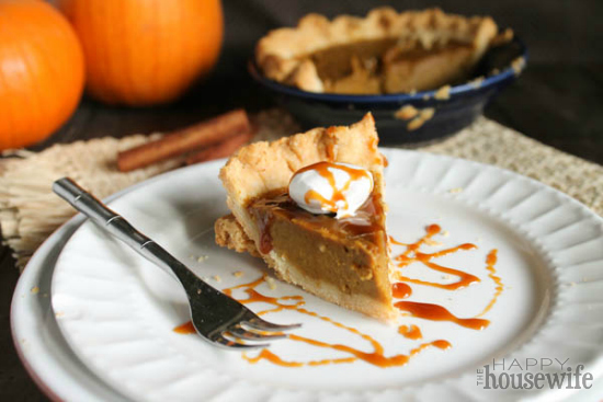 Paleo Pumpkin Pie at The Happy Housewife