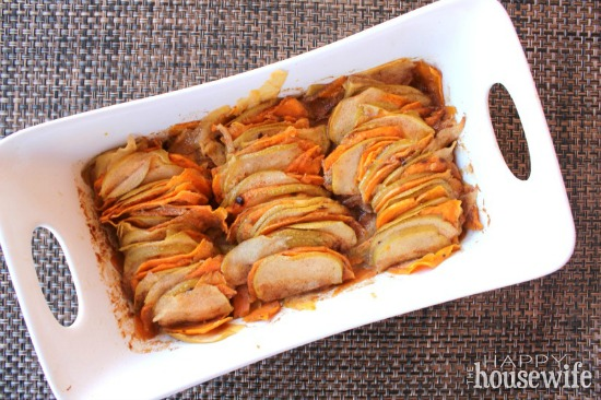 Apples & Sweet Potatoes with Cinnamon Butter at The Happy Housewife