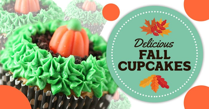 Easy fall cupcakes! Use a box cake mix to create these adorable cupcakes for halloween.