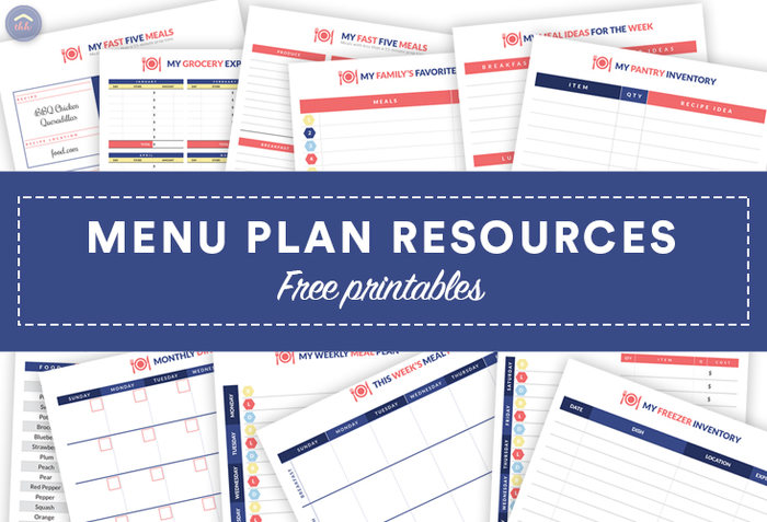 Free meal planning resources