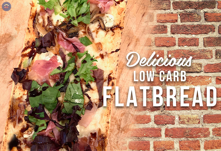 Delicious low carb flatbread pizza