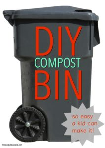 DIY compost bin made with materials you have alreaady.