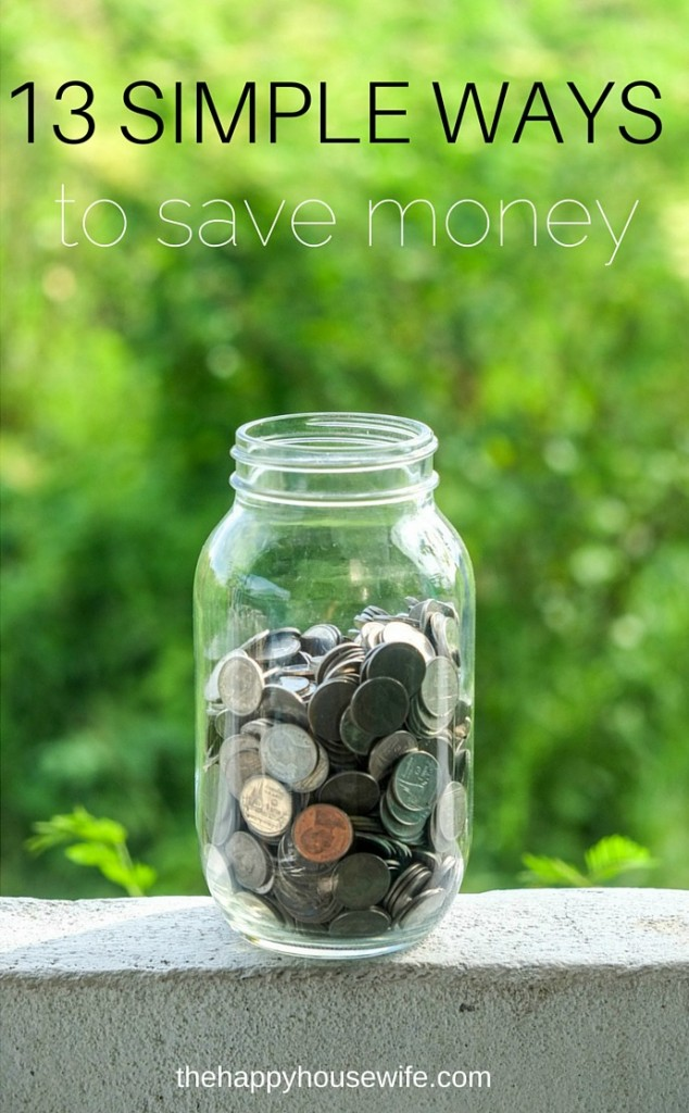 13 simple ways to save money