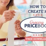 how to create a grocery price book
