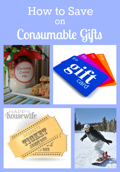 How to Save on Consumable Gifts | The Happy Housewife