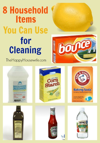 8 Household Items You Can Use for Cleaning | The Happy Housewife