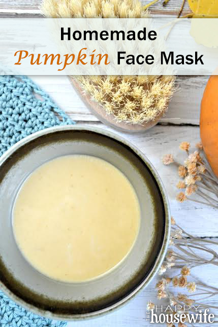 Homemade Pumpkin Face Mask | The Happy Housewife
