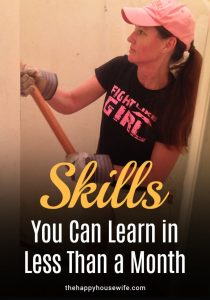 Skills you can learn in less than a month