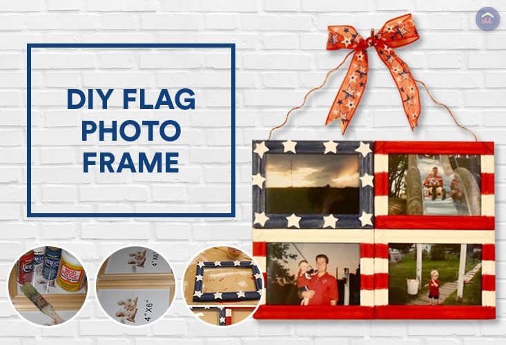 DIY Flag Photo Frame