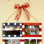 DIY Tutorial: Flag Photo Collage Frame   The Happy Housewife