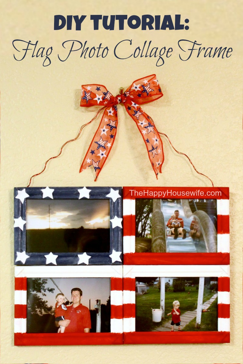 DIY Tutorial: Flag Photo Collage Frame | The Happy Housewife
