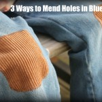 3 ways to mend blue jeans