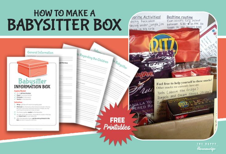 How to make a babysitter information printable