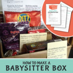 How to make a babysitter information box.