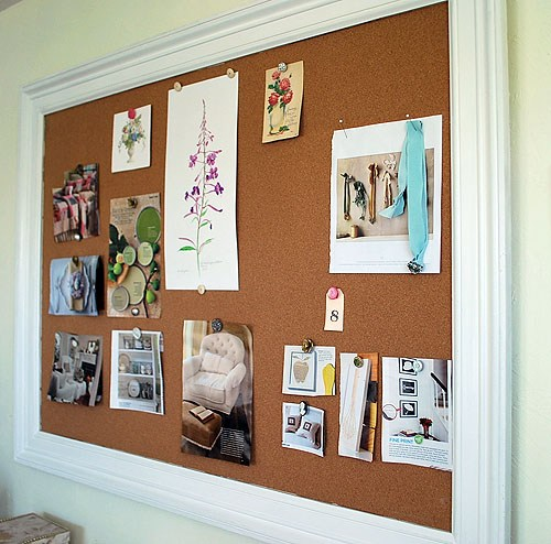 DIY Framed Bulletin Board