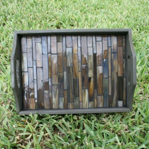 Glass Tiled Serving Tray
