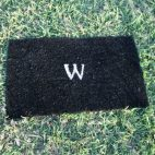 DIY Monogram Welcome Mat