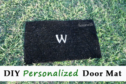 How To Make A Personalized Door Mat The Happy Housewife