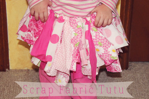 This scrap fabric tutu is so easy to make and will provide your little girl with something fun to wear during playtime or anytime.