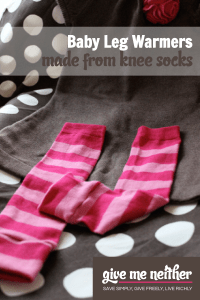 Baby Leg Warmers: Homemade Christmas Gifts - The Happy ...