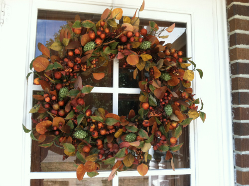 How to Make a Fall Wreath (Door) | The Happy Housewife