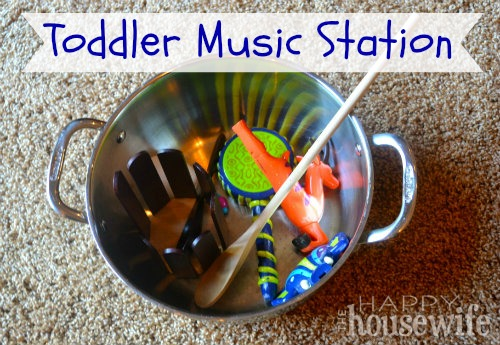 Toddler Music Station | The Happy Housewife