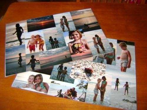 Photo Place Mats Homemade Christmas Gifts The Happy