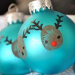 Reindeer Thumbprint Ornaments