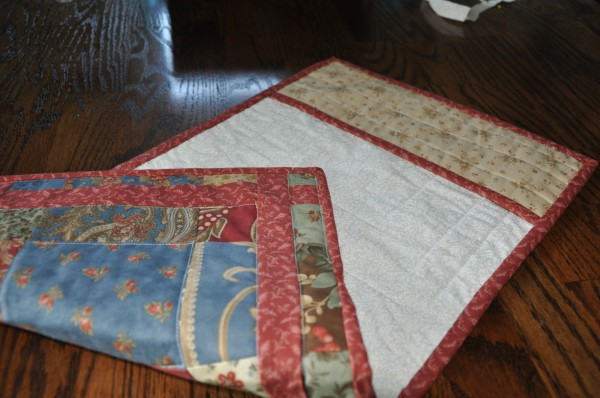 Quilted Notebook Cover (step 4) | The Happy Housewife