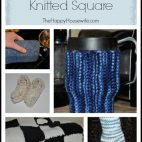 Homemade Gifts from a Knitted Square | The Happy Housewife