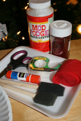 Supplies for Homemade Christmas Ornament